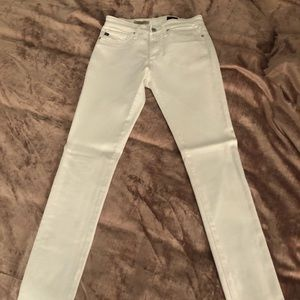 Ag Adriano Goldschmied Jeans - AG White High Rise Farrah Skinny Size 24
